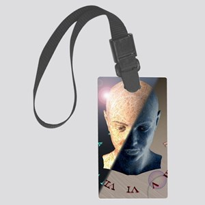 Passage of time, conceptual artw Large Luggage Tag